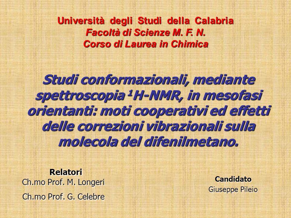 Relatori Ch.mo Prof. M. Longeri Ch.mo Prof. G. Celebre