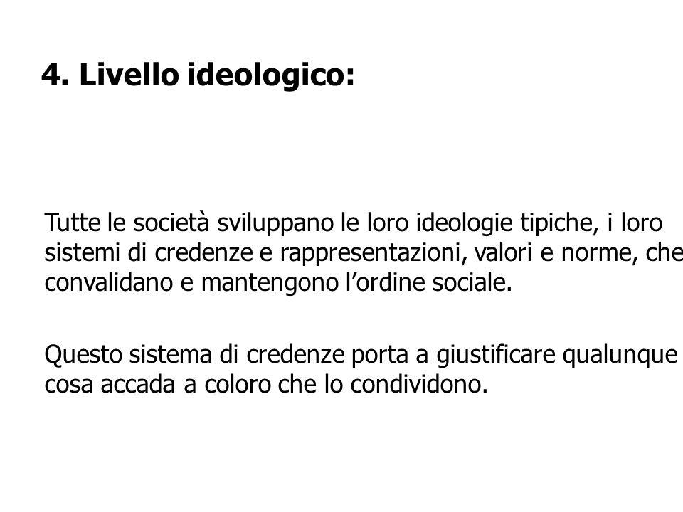 4. Livello ideologico: