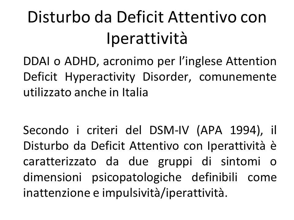 Disturbo da Deficit Attentivo con Iperattività