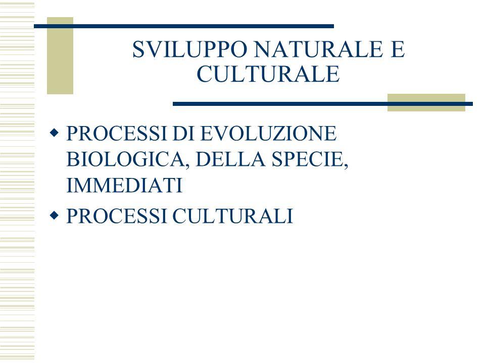 SVILUPPO NATURALE E CULTURALE