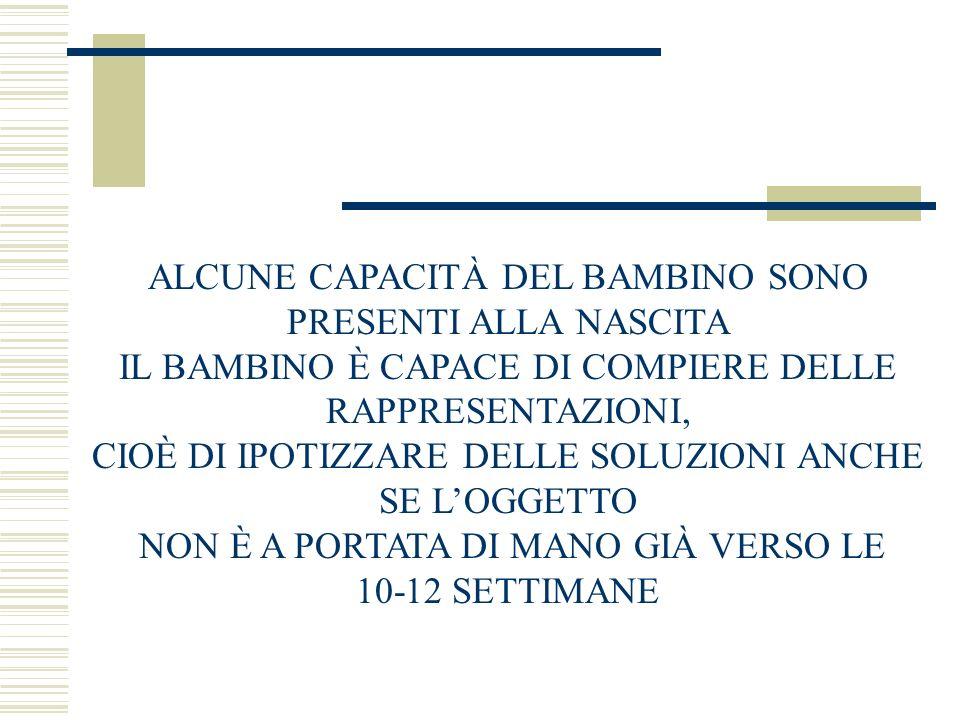 ALCUNE CAPACITÀ DEL BAMBINO SONO PRESENTI ALLA NASCITA