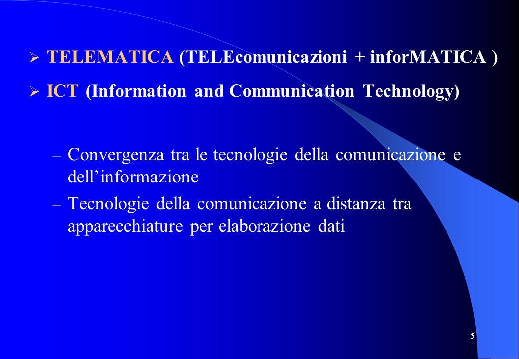 TELEMATICA (TELEcomunicazioni + inforMATICA )