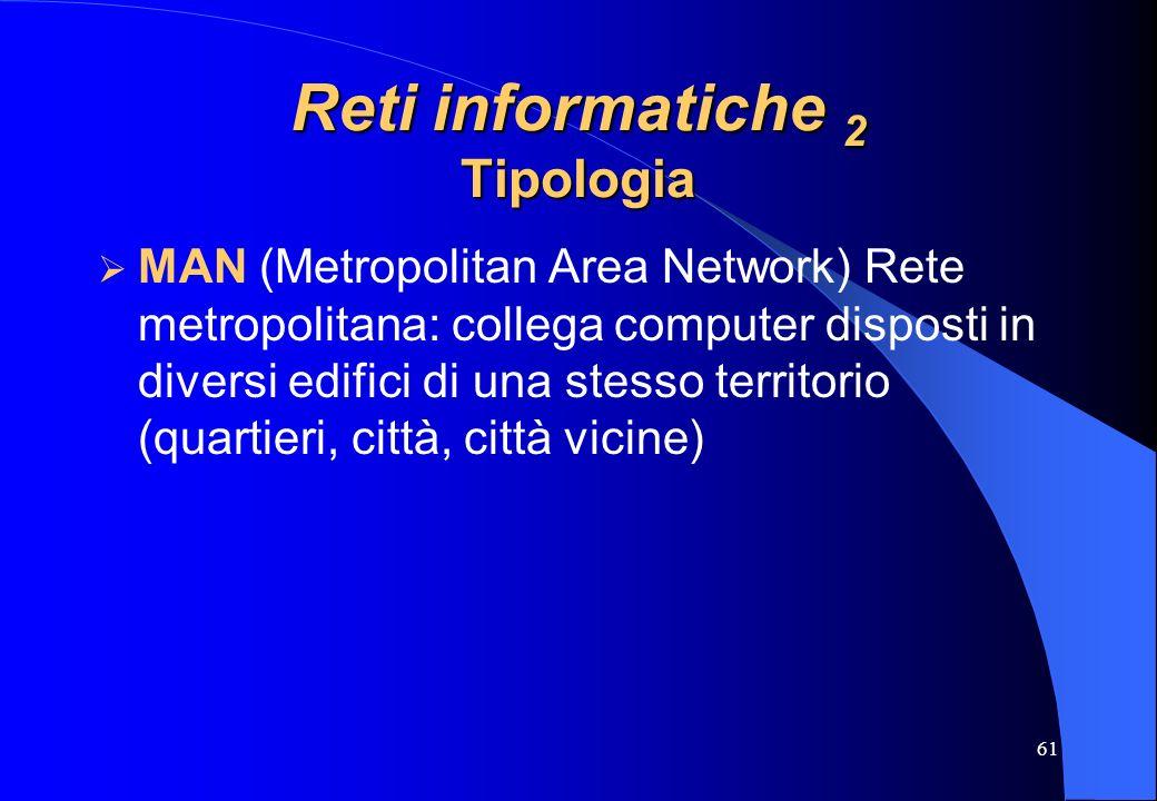 Reti informatiche 2 Tipologia
