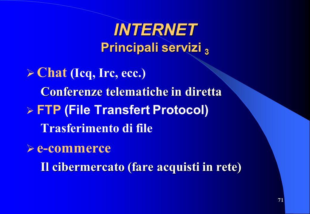 INTERNET Principali servizi 3