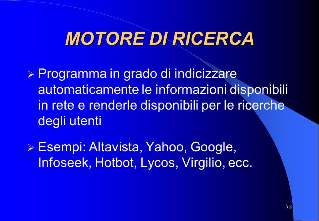 MOTORE DI RICERCA