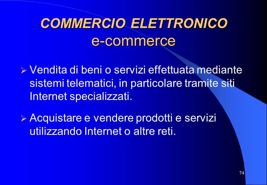 COMMERCIO ELETTRONICO e-commerce