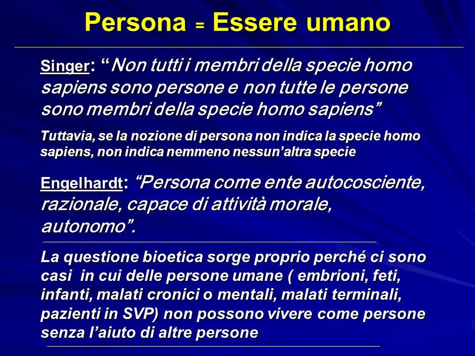 Persona = Essere umano