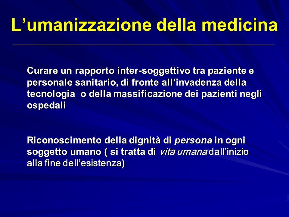 L'umanizzazione della medicina
