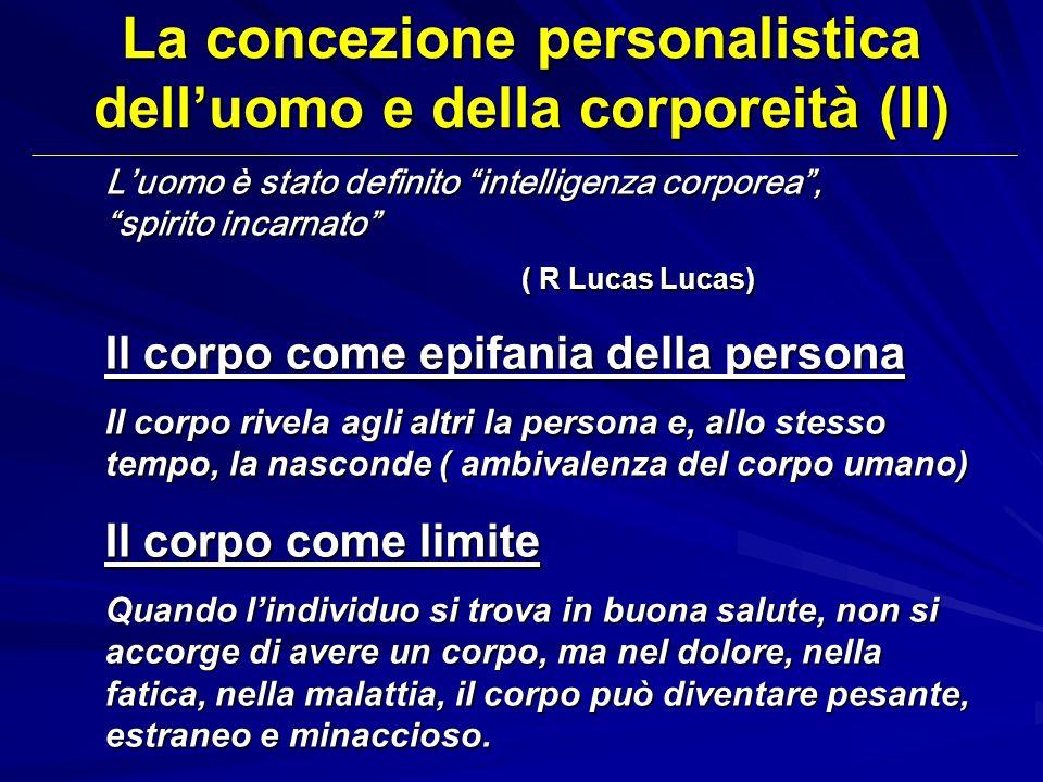 La concezione personalistica dell'uomo e della corporeità (II)