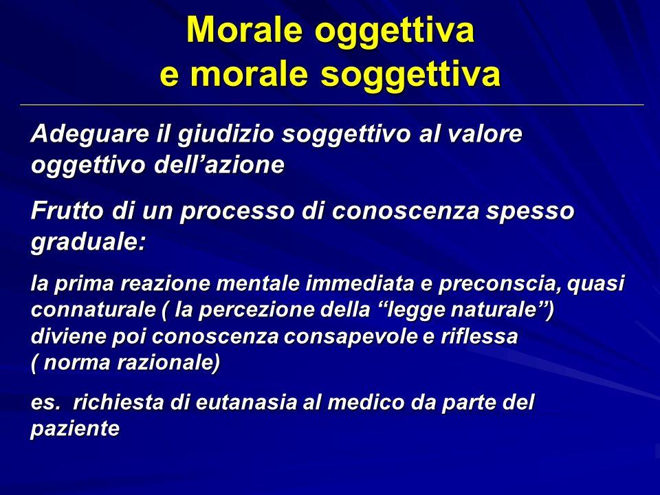 Morale oggettiva e morale soggettiva