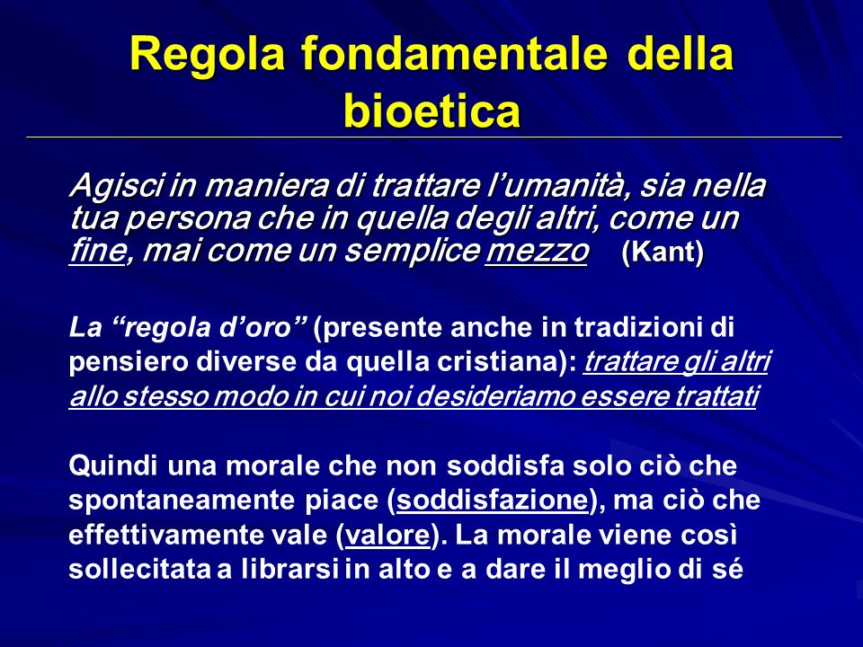 Regola fondamentale della bioetica
