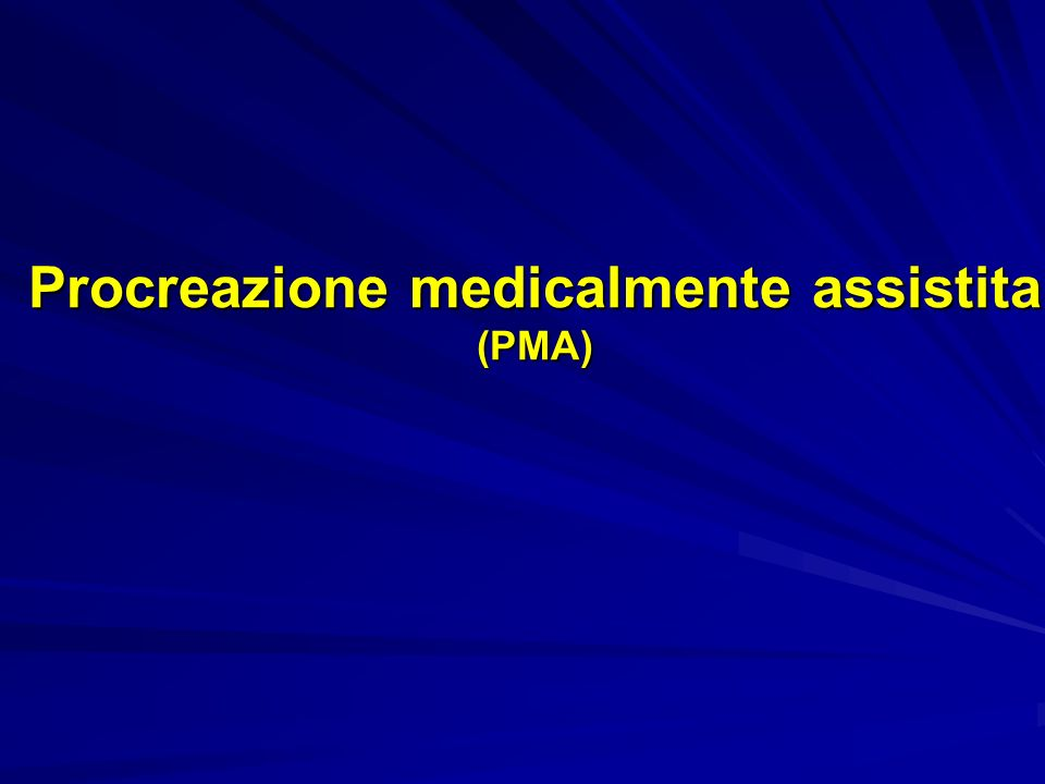 Procreazione medicalmente assistita