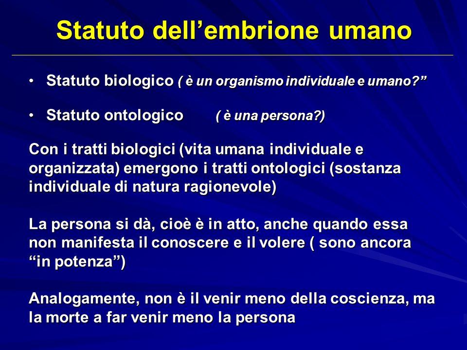 Statuto dell'embrione umano