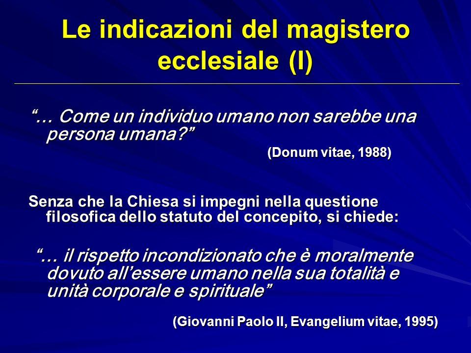 Le indicazioni del magistero ecclesiale (I)