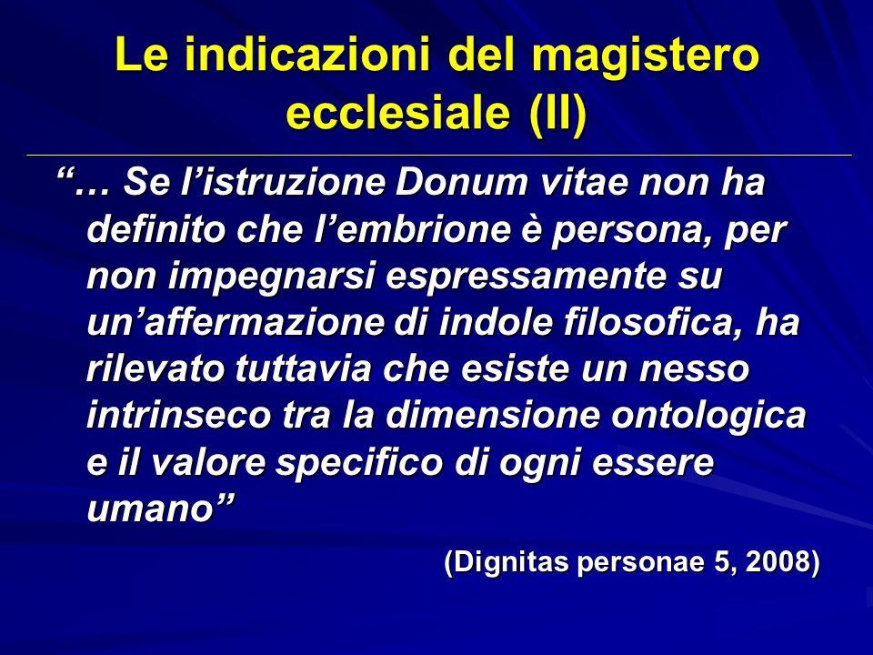 Le indicazioni del magistero ecclesiale (II)