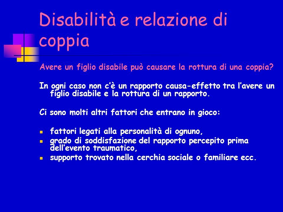 Disabilità e relazione di coppia