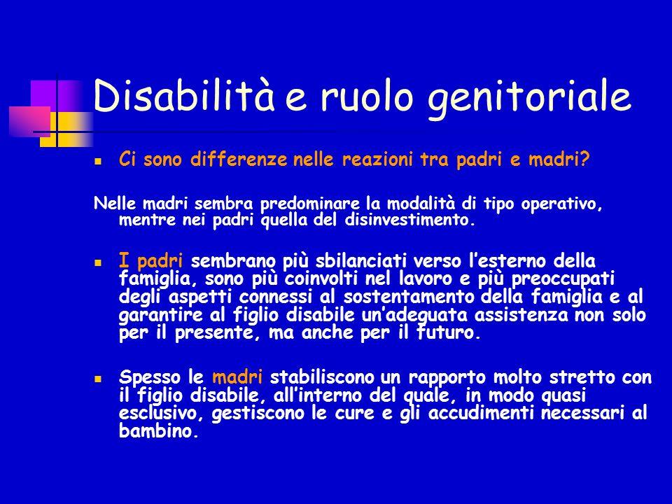Disabilità e ruolo genitoriale