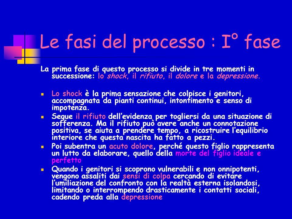 Le fasi del processo : I° fase