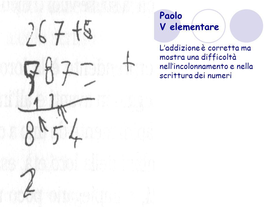 Paolo V elementare.