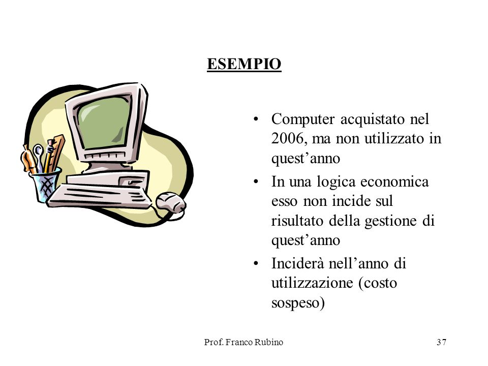 Computer acquistato nel 2006, ma non utilizzato in quest'anno