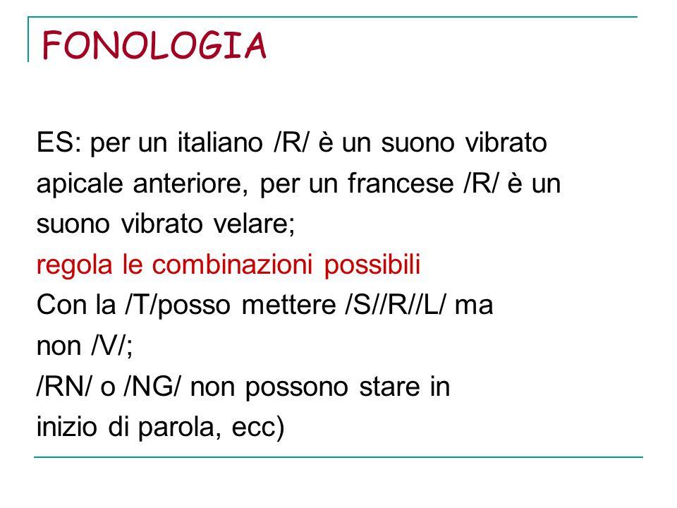 FONOLOGIA ES: per un italiano /R/ è un suono vibrato