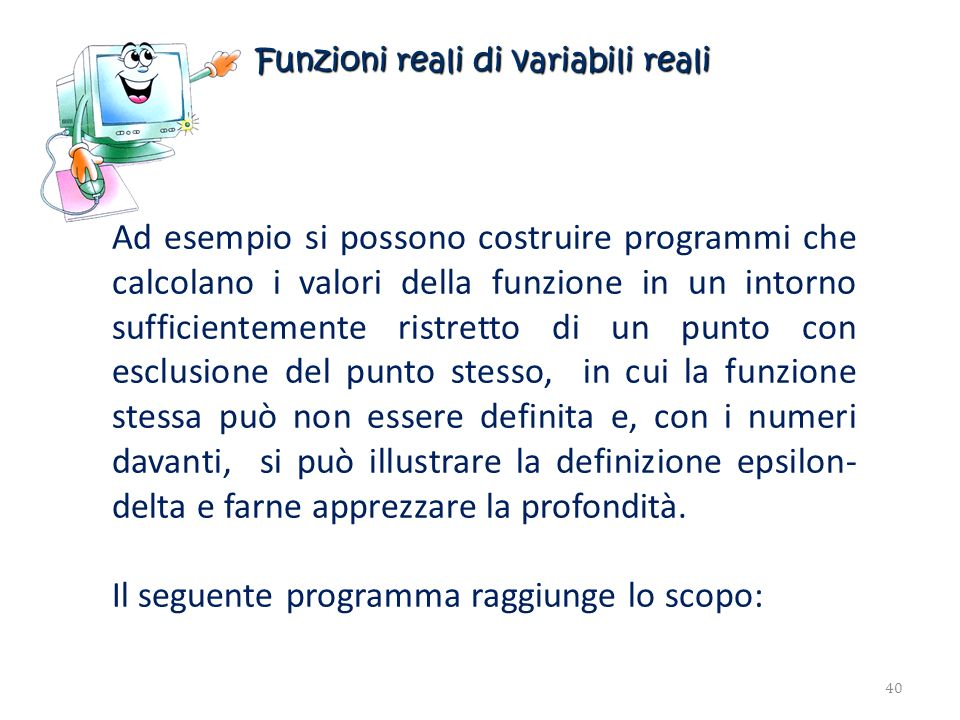 Funzioni reali di variabili reali