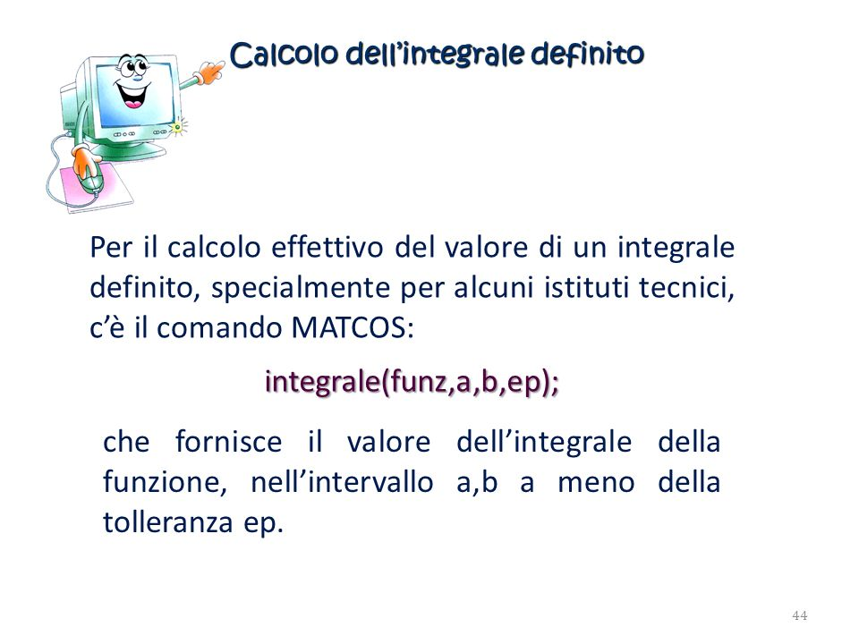 Calcolo dell'integrale definito