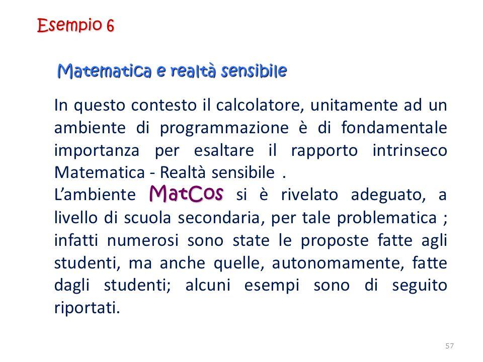 Matematica e realtà sensibile