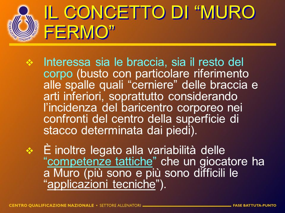 IL CONCETTO DI MURO FERMO