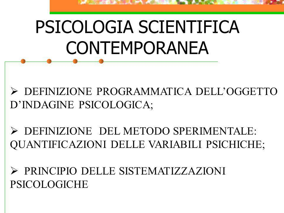 PSICOLOGIA SCIENTIFICA CONTEMPORANEA