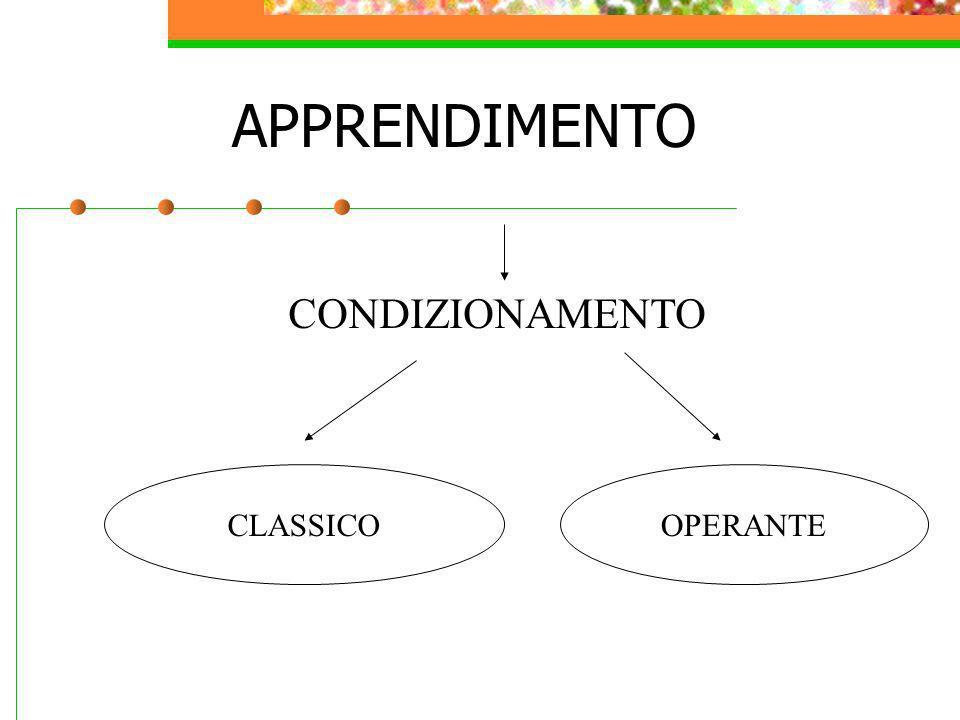APPRENDIMENTO CONDIZIONAMENTO CLASSICO OPERANTE