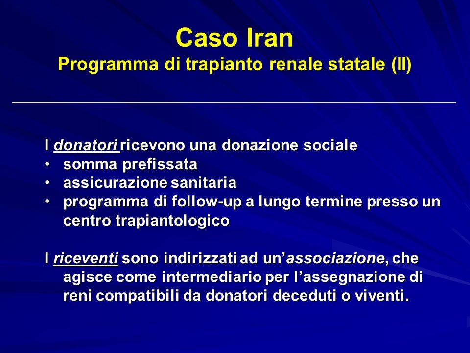 Programma di trapianto renale statale (II)