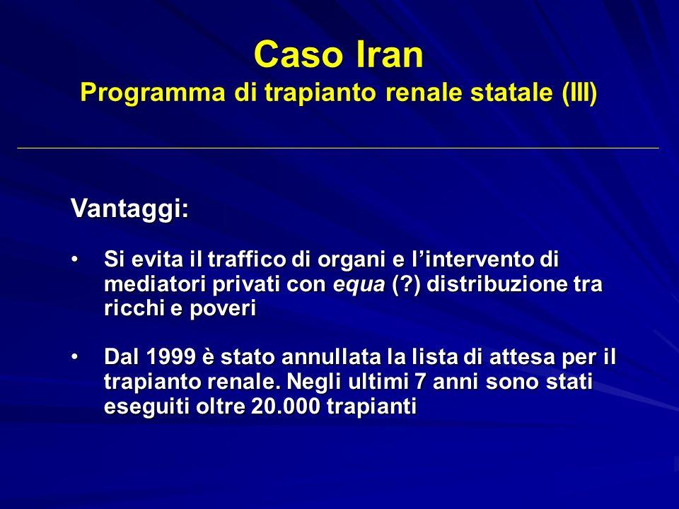 Programma di trapianto renale statale (III)