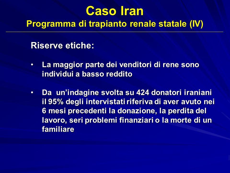 Programma di trapianto renale statale (IV)