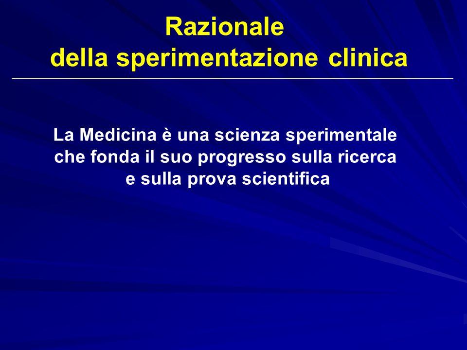 Razionale della sperimentazione clinica