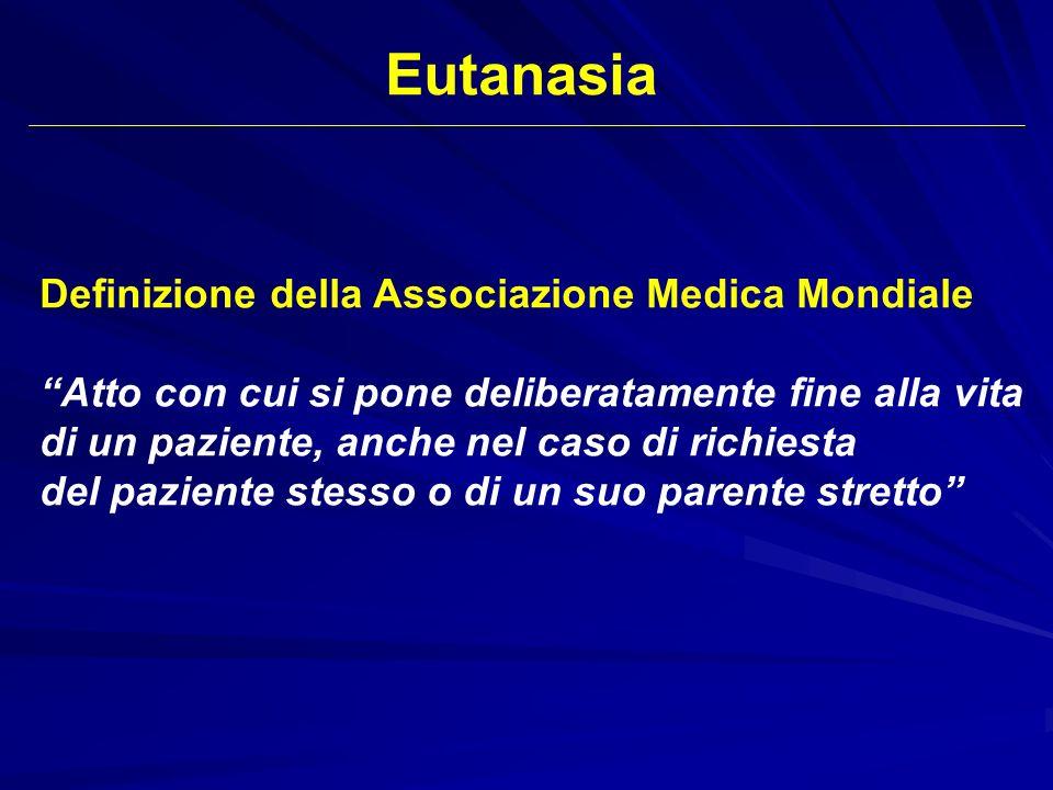 Eutanasia Definizione della Associazione Medica Mondiale