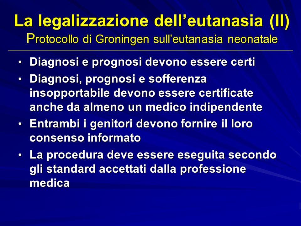 La legalizzazione dell'eutanasia (II) Protocollo di Groningen sull'eutanasia neonatale