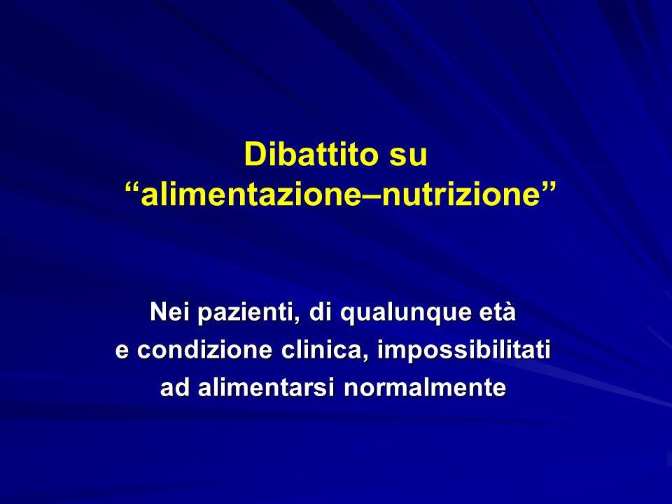 Dibattito su alimentazione–nutrizione