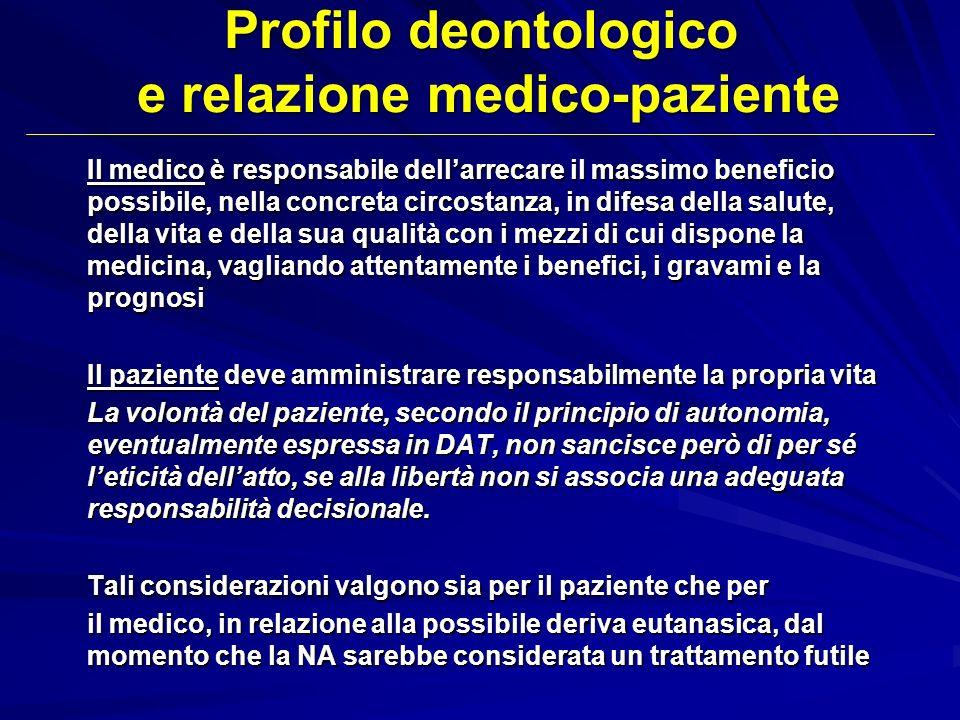 Profilo deontologico e relazione medico-paziente