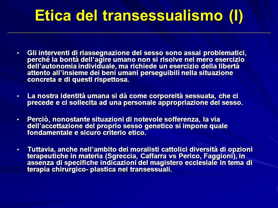 Etica del transessualismo (I)