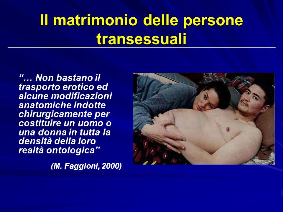 Il matrimonio delle persone transessuali