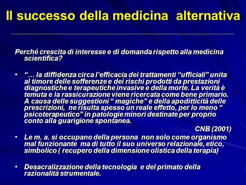 Il successo della medicina alternativa
