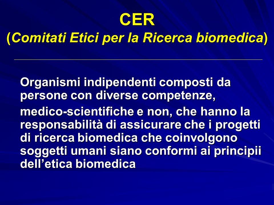 CER (Comitati Etici per la Ricerca biomedica)