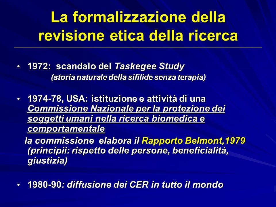La formalizzazione della revisione etica della ricerca