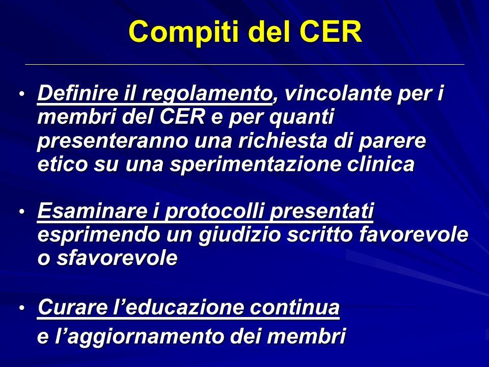 Compiti del CER