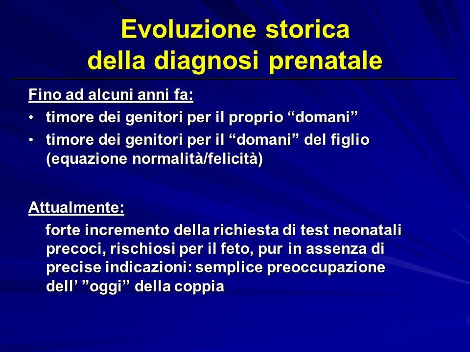 Evoluzione storica della diagnosi prenatale