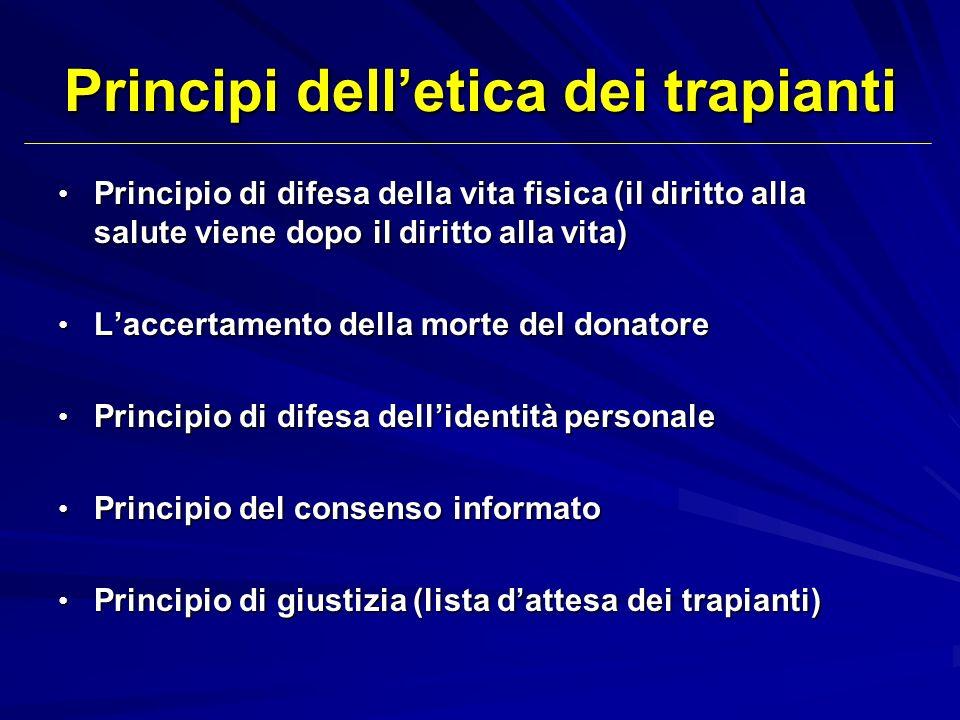 Principi dell'etica dei trapianti