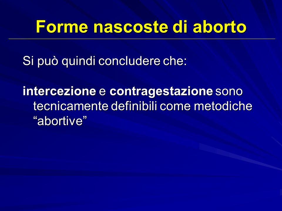 Forme nascoste di aborto