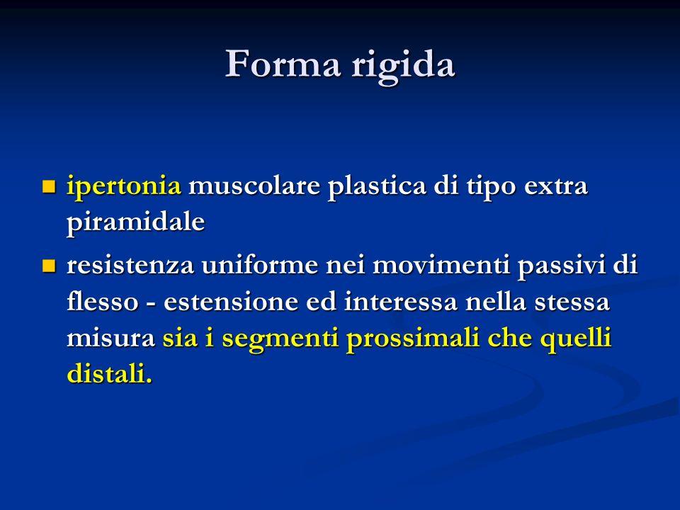 Forma rigida ipertonia muscolare plastica di tipo extra piramidale
