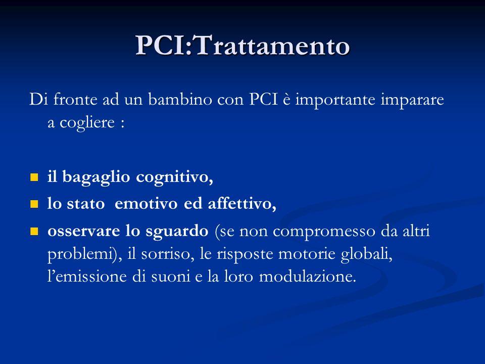 PCI:Trattamento Di fronte ad un bambino con PCI è importante imparare a cogliere : il bagaglio cognitivo,